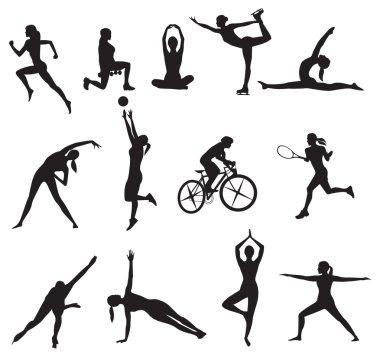 sport Women silhouettes