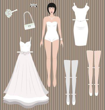 Dress up paper doll.