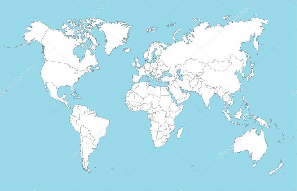 Large world map — Stock Vector © Malachy666 #100539468