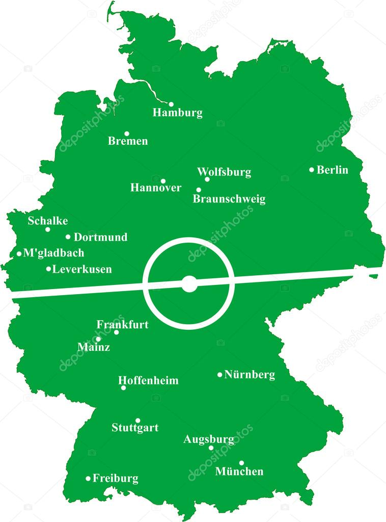 Map Of Germany Hoffenheim.Map Of Bundesliga Stock Vector C Malachy666 100539626