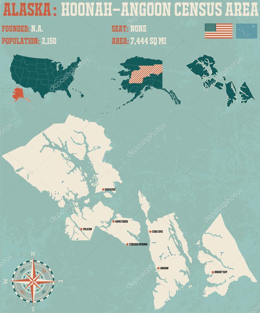 Hoonah Angoon Census Area Alaska Usa Stock Vector C Malachy666
