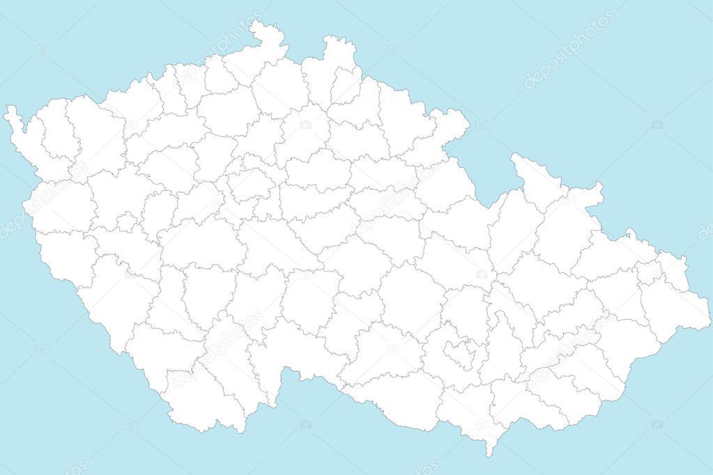 Map Of Czech Republic Stock Vector C Malachy666 64223607