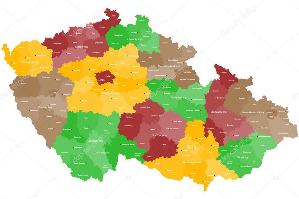 Map Of The Czech Republic Stock Vector C Malachy666 64223629