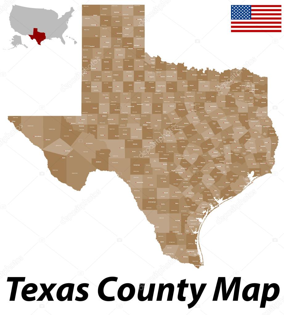State Of Texas County Map.Texas County Map Stock Vector C Malachy666 71084427