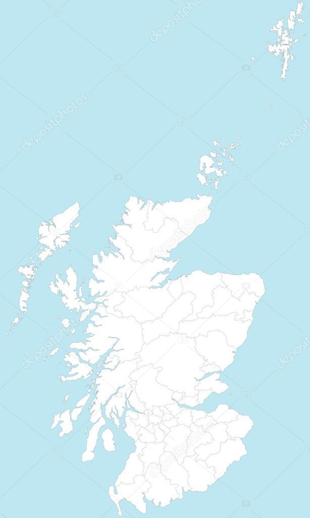 Detaljerad Karta Over Skottland Karta 2020