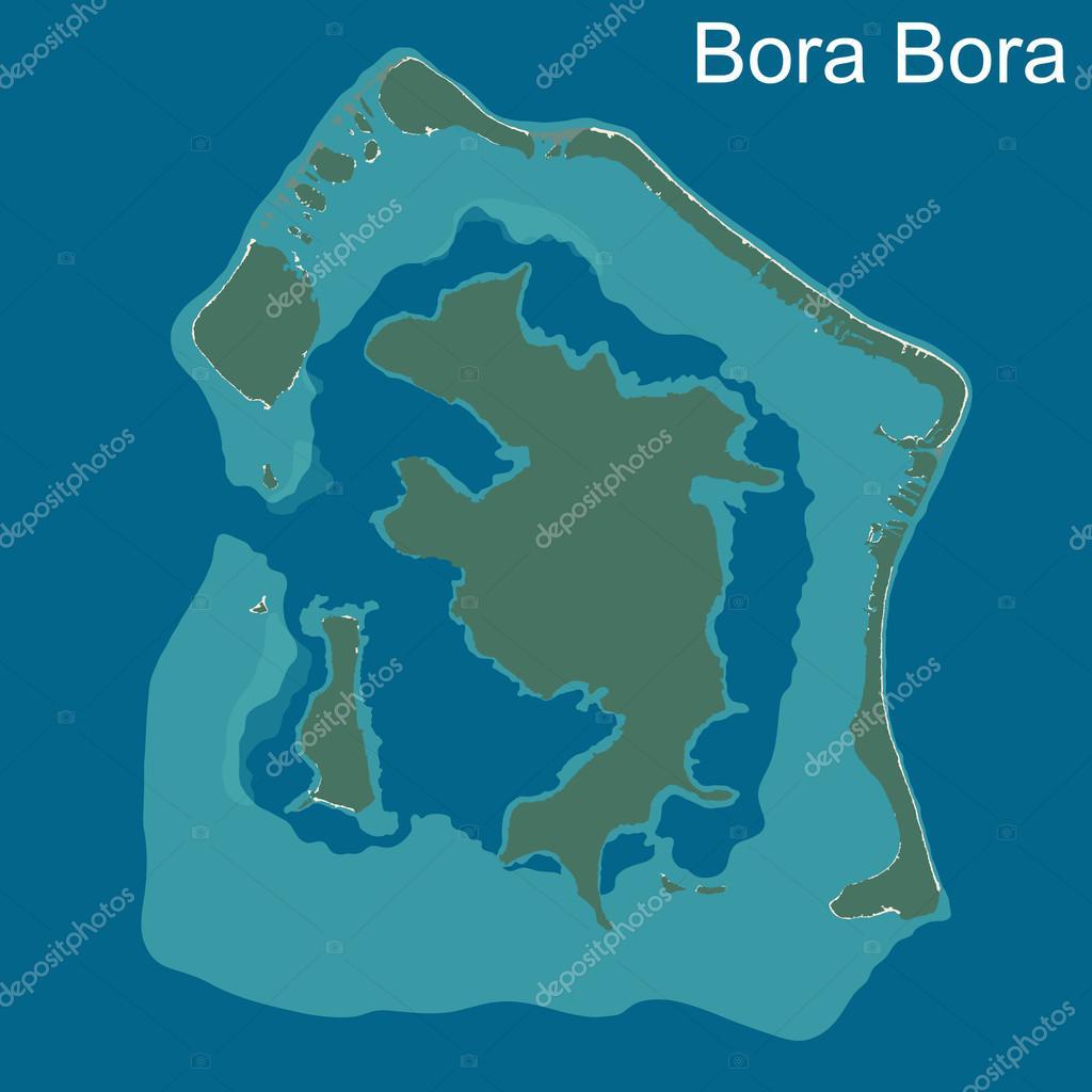 Map Of Bora Bora Stock Vector C Malachy666 75808819