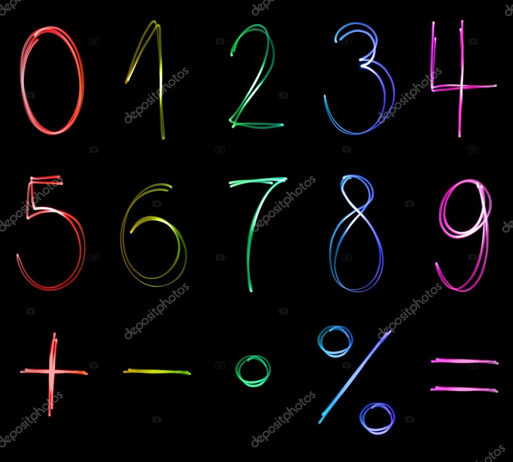 Different flourescent numbers and math symbols in different neon different flourescent numbers and math symbols in different neon colors photo by malachy666 biocorpaavc Choice Image
