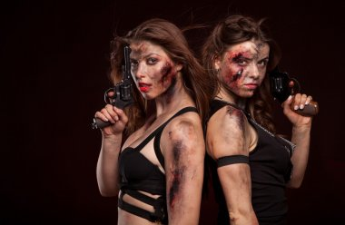 Armed strong female killers