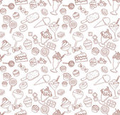 Photo Seamless pattern with sweets