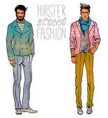 Hipster módní módní muži