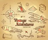 Fotografie Vintage-Abenteuer, Design-Elemente