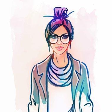 Urban street style: hipster girl
