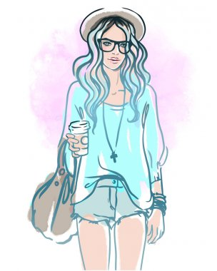 Urban street style: hipster girl