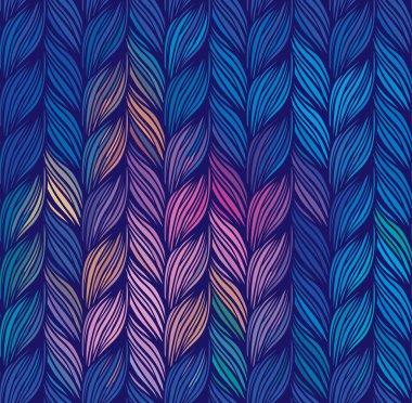 Seamless pattern of braids.