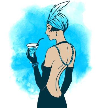 Flapper girl: Retro party invitation