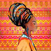 Fényképek afrikai nő turbán