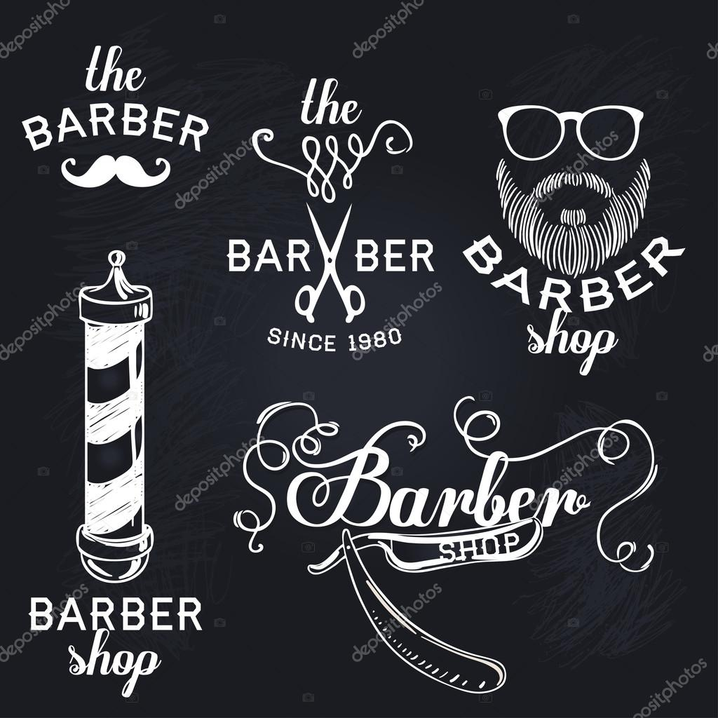 hipster barber shop business card — stock vector � vgorbash #80165882