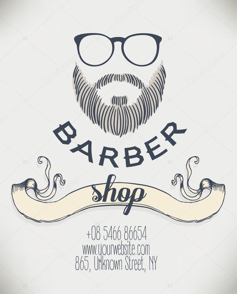 Hipster Barber Shop Business Card — Stock Vector © vgorbash #80165914