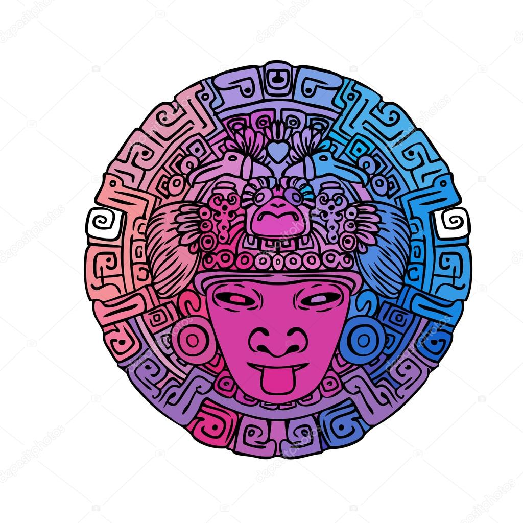 Calendario Maya Vector.Vintage Adventures Mayan Calendar Stock Vector C Vgorbash