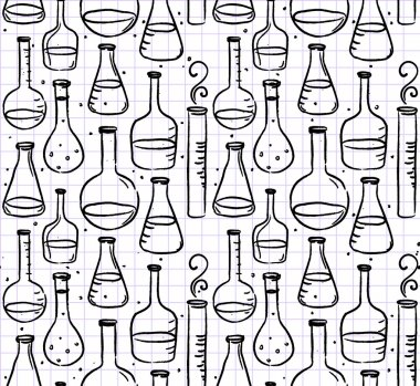 Back to school: test tubes pattern