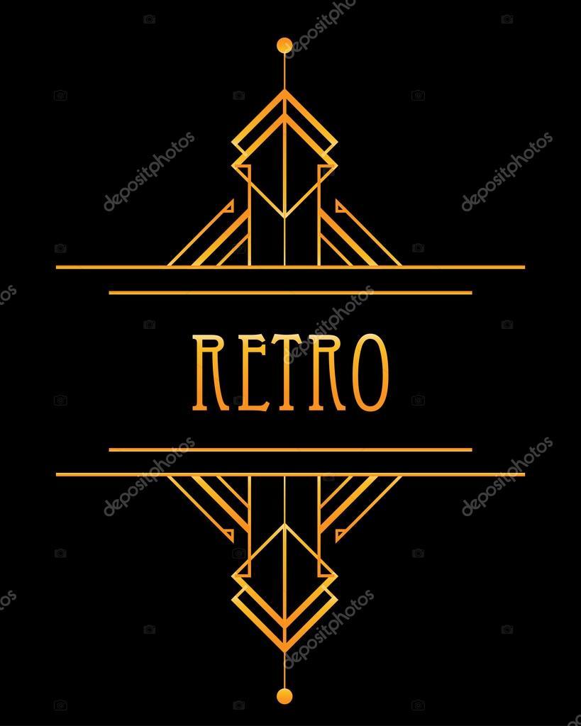 Art deco geometric retro pattern