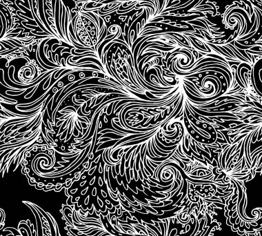 floral paisley seamless pattern