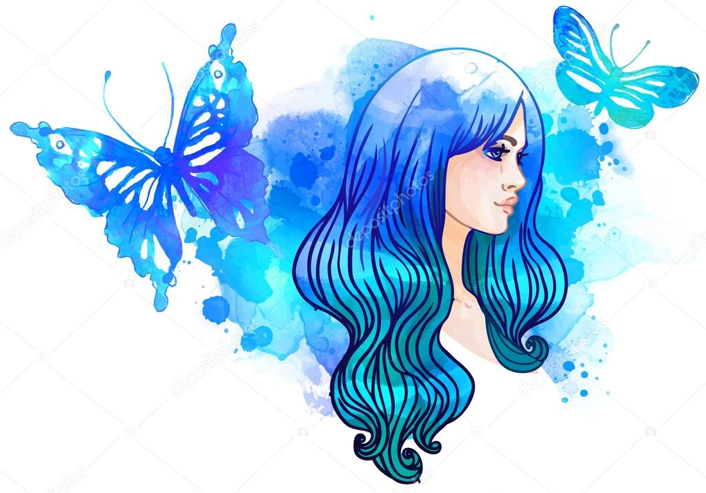 Fotos Mariposas Bonitas Mariposas Y Acuarela Niña Bonita Vector