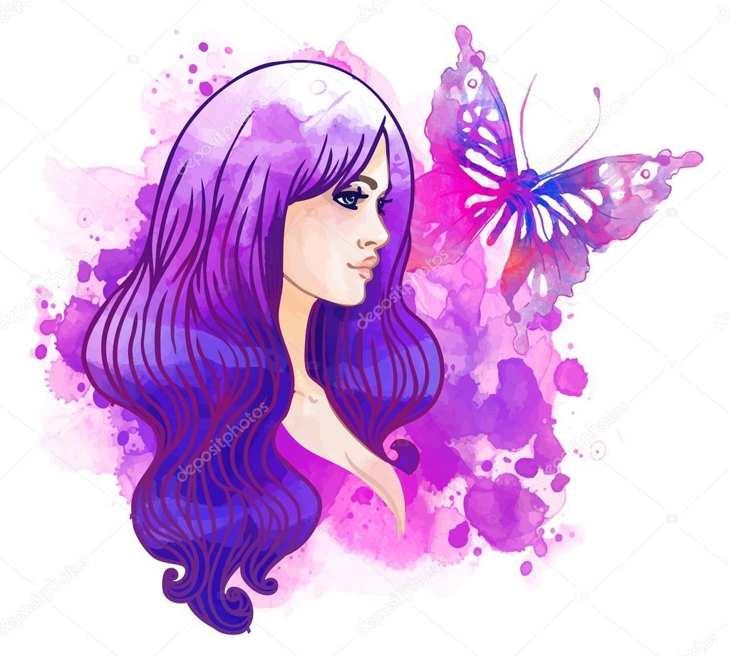Imágenes Mariposa Bonitas Mariposa Y Acuarela Niña Bonita