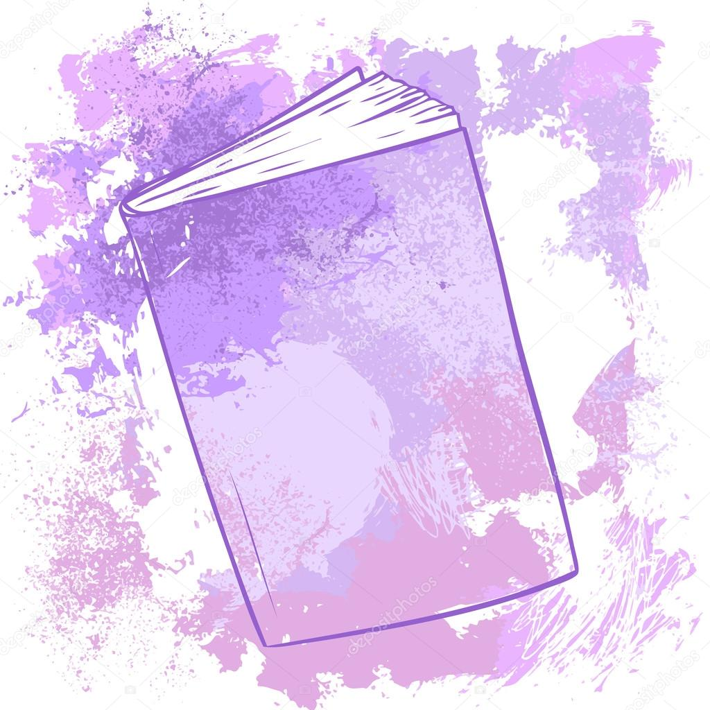 Book Cover Watercolor Xp : Watercolor book cover coloring page
