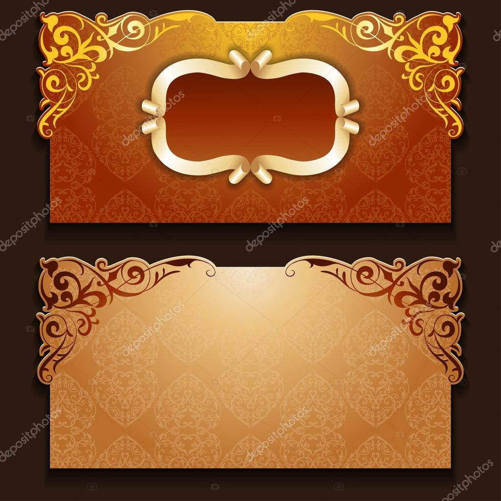 Royal Invitation Card With Frame Stock Vector