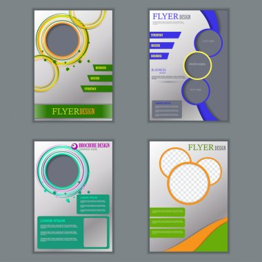Vector set of vertical flyers for design