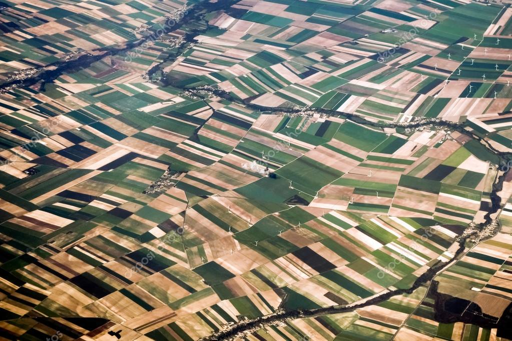 Aerial view of the French countryside