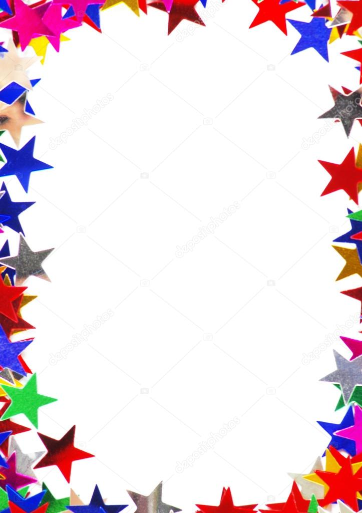 Colored Stars Frame Stock Photo 169 Horenko 55404373