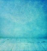 Modrý interiér pokoj