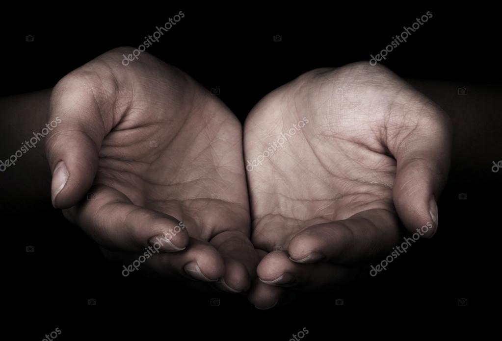 Man giving hands