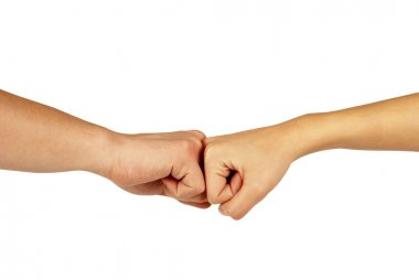 Two hands: man and woman