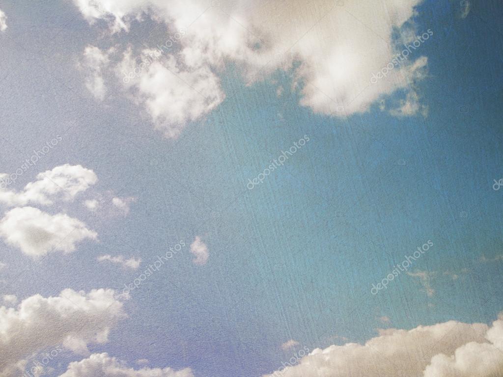 Sky in retro style