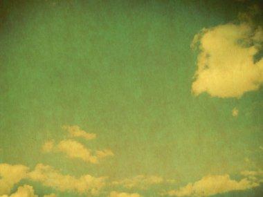 """Картина, постер, плакат, фотообои """"ретро-облачное небо фрески улочки"""", артикул 55451947"""