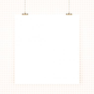 Paper poster on a wall background stock vector