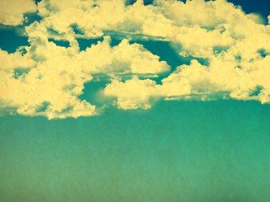"""Картина, постер, плакат, фотообои """"ретро-облачное небо фотообои природа море"""", артикул 74546663"""