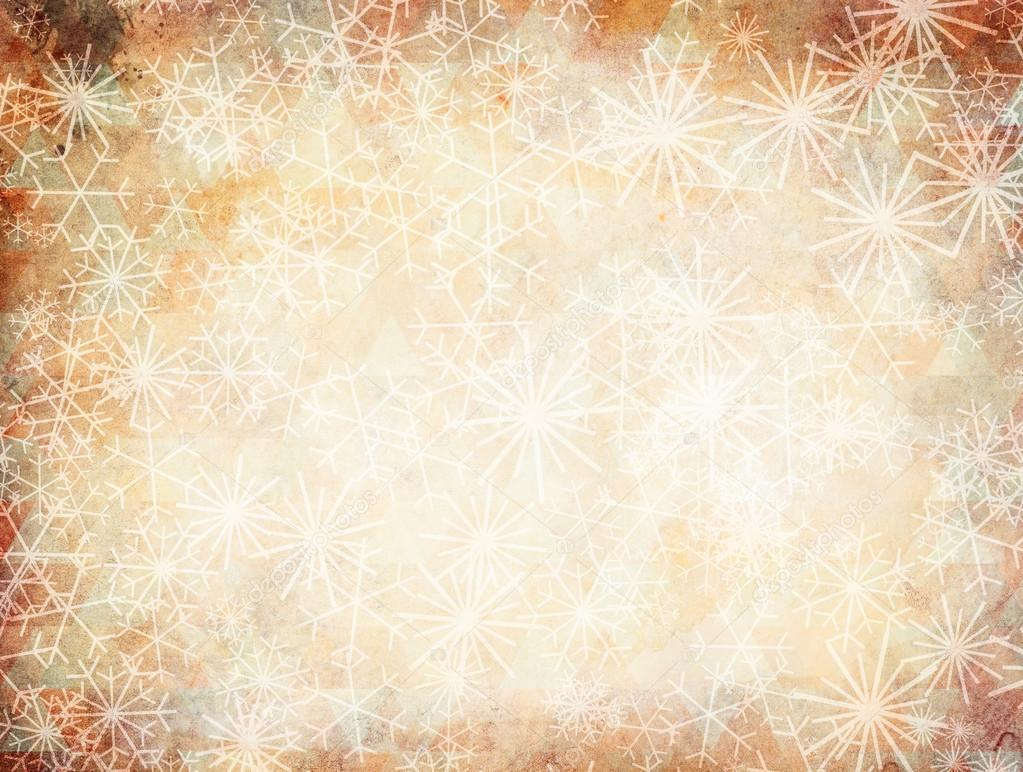 Vintage christmas background with snowflakes \u2014 Stock Photo
