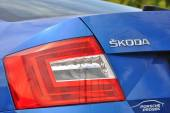 detail of light Skoda car