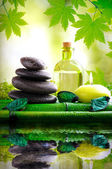 Fotografie Alternative treatments of natural essences vertical composition