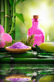 Fotografie Alternative treatments of natural essences for body care vertica