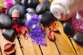 Black stones, and essences for body care