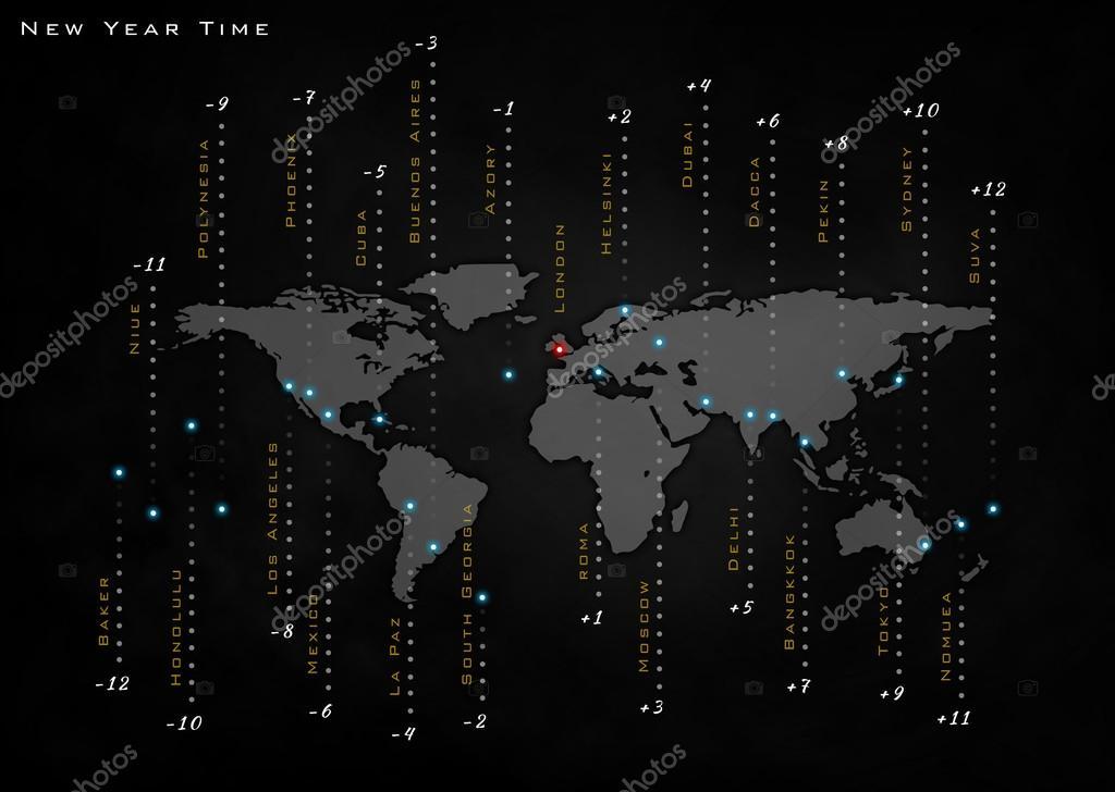 världstider karta tid i världen, världstid, world karta — Stockfotografi  världstider karta
