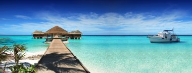 Maldives, dream trip, beautiful, sunny, exotic vacations. Resting on a yacht