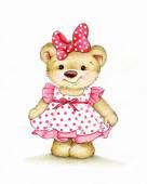 Fotografie Süße Teddybär-Mädchen