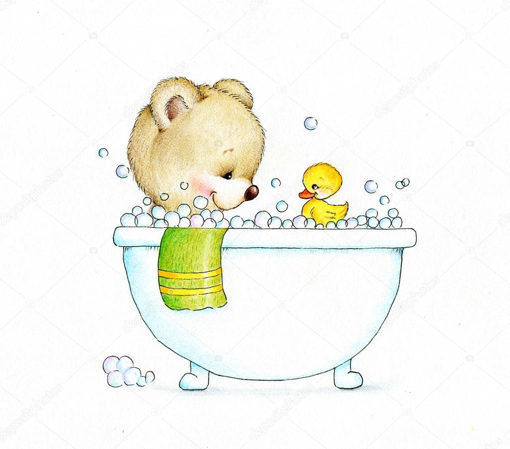 есть картинки медведь под душем будет оценивать каждый