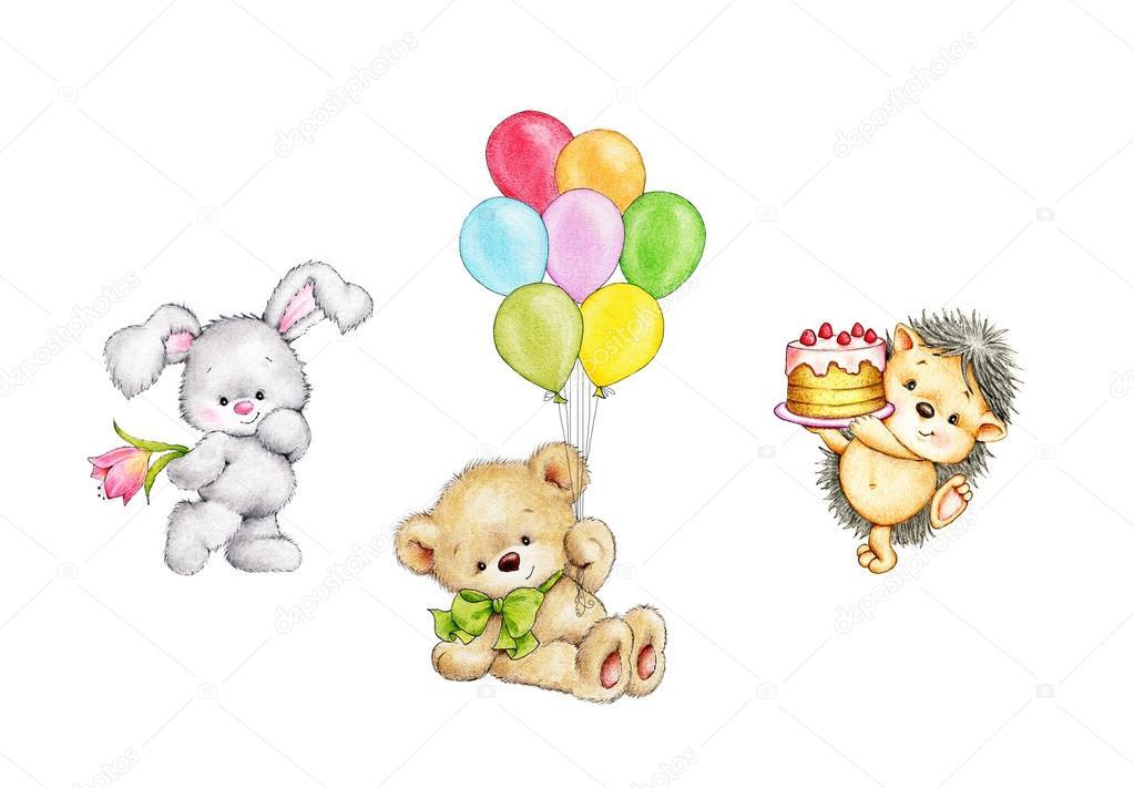 Satz Von Geburtstag Tiere Stockfoto Tchumak 96758750